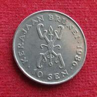 Brunei 10 Sen 1986 KM# 17 *V2 - Brunei