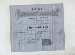 Fabrique Etoffes Soie Lyon 1878 Laymond Galle - Vestiario & Tessile
