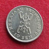 Brunei 10 Sen 1989 KM# 17   *V1 - Brunei