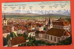 ZLB-19 Biel Bienne Totalansicht Mit Alpen N. 2056 . Circulé 1911. - BE Berne