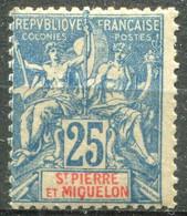 SAINT PIERRE ET MIQUELON - Y&T  N° 75 * - Unused Stamps
