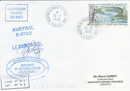 """TAAF-Martin De Vivies-St Paul-AMS: Lettre """"Austral"""" Avec Timbre N°231 Ile Saint-Paul - 10/02/1998 - Lettres & Documents"""