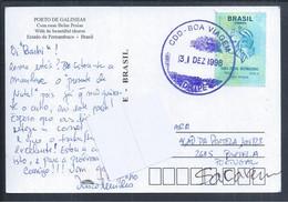 Postal De Porto Galinhas Com Obliteração De CDD - Boa Viagem, Brasil. Porto Galinhas Postcard With CDD Obliteration - Bo - Cartas