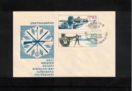 Germany / Deutschland DDR 1967 World Biathlon Championship Altenberg FDC - Wintersport (Sonstige)