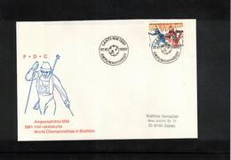 Finland 1980 World Biathlon Championship Lahti FDC - Wintersport (Sonstige)