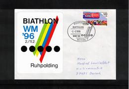 Germany / Deutschland 1996 World Biathlon Championship Ruhpolding Interesting Letter - Wintersport (Sonstige)