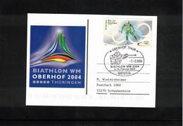 Germany / Deutschland 2004 World Biathlon Championship Oberhof Interesting Postcard - Wintersport (Sonstige)
