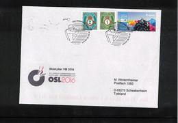 Norway 2016 World Biathlon Championship Oslo 5.3.2016 Interesting Letter - Wintersport (Sonstige)