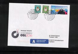 Norway 2016 World Biathlon Championship Oslo 6.3.2016 Interesting Letter - Wintersport (Sonstige)
