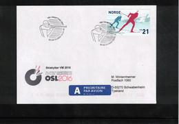 Norway 2016 World Biathlon Championship Oslo 9.3.2016 Interesting Letter - Wintersport (Sonstige)