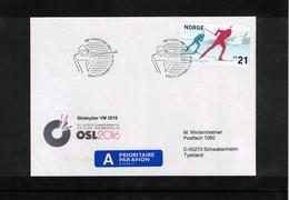 Norway 2016 World Biathlon Championship Oslo 11.3.2016 Interesting Letter - Wintersport (Sonstige)