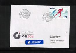 Norway 2016 World Biathlon Championship Oslo 12.3.2016 Interesting Letter - Wintersport (Sonstige)