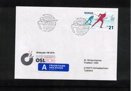 Norway 2016 World Biathlon Championship Oslo 13.3.2016 Interesting Letter - Wintersport (Sonstige)