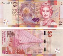 Bahamas 3 Dollars 2019 UNC - Bahamas