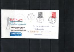France 2008 World Summer Biathlon Championship Haute Maurienne Vanoise Interesting Letter - Wintersport (Sonstige)