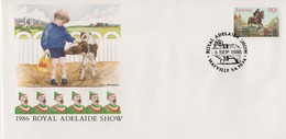 Australia PM 1322 1986 Royal Adelaide Show,FDI  Souvenir Cover - Marcofilie