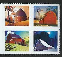 USA. Scott # 5546-49a, MNH Block Of 4. Barns.  2021 - Usados