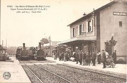 USSON-ST-PAL (42) Ligne Bonson-Sembadel (Cie P.L.M.) - Cure D'Air (Superbe !!! 2 Trains) - Sonstige Gemeinden