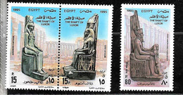 #7997 EGYPT 1995 ARCHEOLOGY THE SHAFT OF LUXOR YV 1547-8 +AE 232 MNH,NEUF,POSTFRISCH - Archaeology