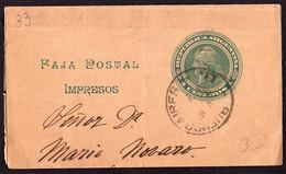 Argentina - Circa 1900 - Faja Postal - Bande Postale - Republica En Medallon - 4 Ctv - A1RR2 - Briefe U. Dokumente