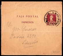 Argentina - Circa 1920 - Faja Postal - Bande Postale - General San Martin - 1/2 Ctv - A1RR2 - Briefe U. Dokumente