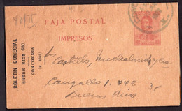 Argentina - Circa 1920 - Faja Postal - Bande Postale - General San Martin - 1/2 Ctv - A1RR2 - Brieven En Documenten