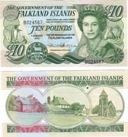 Falkland Islands 10 Pounds 2011 UNC - Falkland Islands