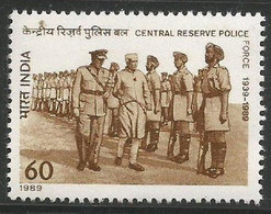 INDIA 1989 STAMP CENTRAL RESERVE POLICE FORCE (C.R.P.F) . MNH - Neufs