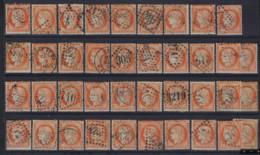 Lot Classiques France : Cérès N° 38 (39 X Tous Avec Varieté) Oblit , Le Plupart En Bon Condition !  LOT 373 - 1871-1875 Cérès