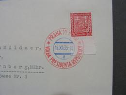 SST Auf Blatt , Kein Brief 1935 - Usados