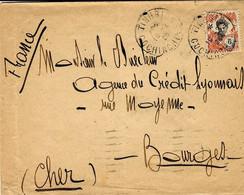 1926- Enveloppe Affr. 6 Cents Oblit. TINHBIEN / COCHINCHINE  Pour La France - Briefe U. Dokumente