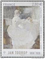 """France N° 5033 ** Peinture De Jan Toorop 1858 - 1928 """" Annie Hall """" - Neufs"""