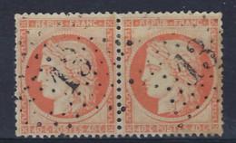 Lot Classiques France : Cérès N° 38 En Pair Oblitéré étoille 13 De Paris   ,  Condition Voir Scan !  LOT 373 - 1870 Besetzung Von Paris