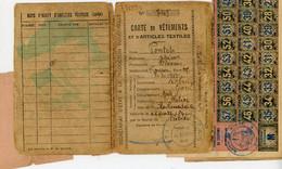 GARD 1942 ROBIAC CARTE DE VETEMENTS ET TEXTILLES AVEC TIMBRES - 1921-1960: Modern Period