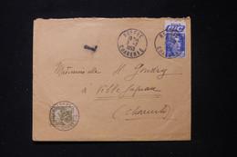 FRANCE - Taxe De Villefagnan Sur Enveloppe De Ruffec En 1953, Affranchissement Gandon Avec Bande Publicitaire - L 90482 - Lettres Taxées