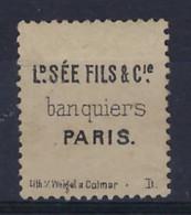 FRANCE - N° 31 - YT - 1868 - 40c Orange Obliteré + Ld SEE Fils Banquiers Paris  , Condition Voir 2 Scans !  LOT 373 - 1863-1870 Napoléon III Lauré
