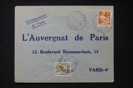 FRANCE - Taxe De Paris Sur Enveloppe Commerciale De Nasbinals En 1959 - L 90489 - Lettres Taxées