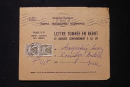 FRANCE - Taxes De Romilly Sur Andelle Sur Enveloppe Des Rebuts En 1959 - L 90490 - Lettres Taxées