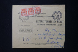 FRANCE - Taxes De Parthenay Sur Enveloppe Des Rebuts En 1952 - L 90491 - Lettres Taxées