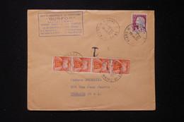 FRANCE - Taxes De Trelaze Sur Enveloppe Commerciale De Flers De L 'Orne En 1963 - L 90493 - Lettres Taxées