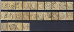 FRANCE : 1871 CERES - 15 C. BISTRE 24 X OBL. , Condition Voir Scan !  LOT 373 - 1871-1875 Cérès