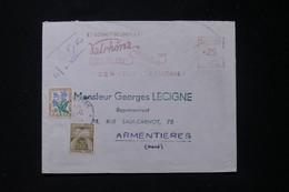 FRANCE - Taxes De Armentières Sur Enveloppe Commerciale De Tain L 'Hermitage En 1964, Affr. Mécanique - L 90496 - Lettres Taxées