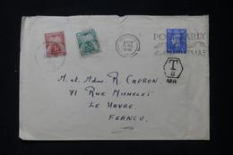 FRANCE - Taxes Du Havre Sur Enveloppe Du Royaume Uni En 1946 - L 90501 - Lettres Taxées
