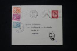 FRANCE - Taxes De Paris Sur Enveloppe Du Royaume Uni En 1955 - L 90503 - Lettres Taxées