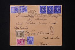 FRANCE - Taxes De St Brieuc Sur Enveloppe Du Royaume Uni En 1959 - L 90504 - Lettres Taxées