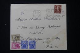 FRANCE - Taxes De Boulogne Sur Mer Sur Enveloppe Du Royaume Uni En 1959 - L 90506 - Lettres Taxées