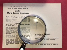 Zuster Marie Beniga Moermans Reguliere Kanunnikes Heilig Graf Priorij Sion Bilzen *1887 Koninksem Tongeren Bilzen +1973 - Devotion Images