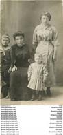 Photo Carte Postale à Identifier. Famille Porthaut Et Un Aveugle. 4 Mini Cartes Postales Différentes Dimensions - Te Identificeren