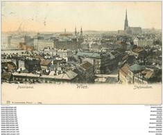 WIEN VIENNE. Panorama Stefansdom 1906 - Wien Mitte
