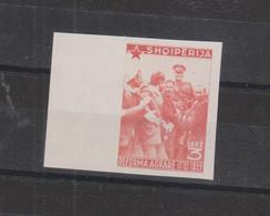 ALBANIA,1947, Imperforated 3 L Value, No Gum - Albania